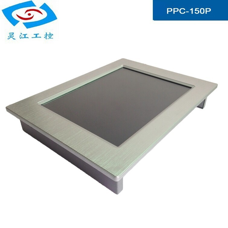 15 inch All in one pc 2*LAN Touch screen Industrial panel pc 1*VGA LCD display Fanless IP65 waterproof monitor enlarge