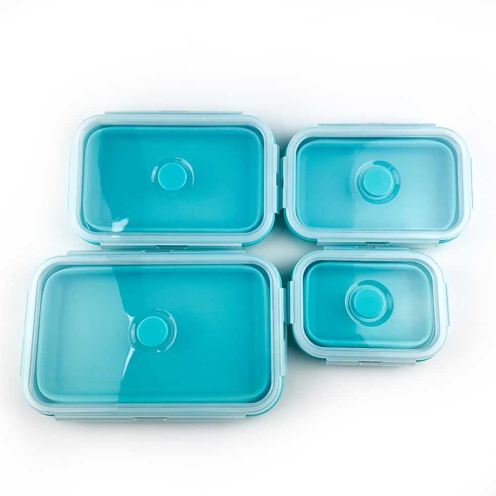 Caja de almacenamiento de alimentos para bebés contenedor de almacenamiento de alimentos Bento Microwavable portátil Picnic Camping rectangular caja de bebé al aire libre