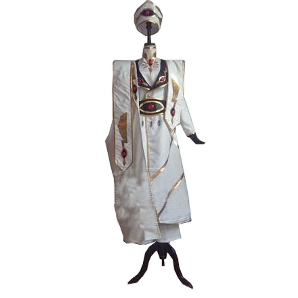 Disfraz de Cosplay de Lelouch de Geass con código blanco de 2016