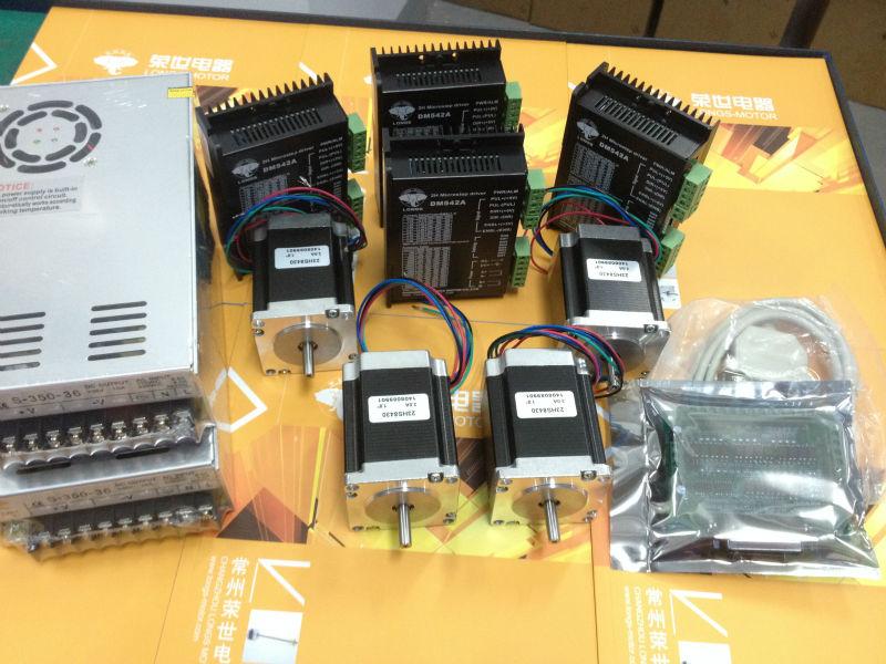 Motor paso a paso 4 eje Nema 23 270oz en 23HS8430 3A DM542A controlador de enrutador CNC grabado desea MOTOR