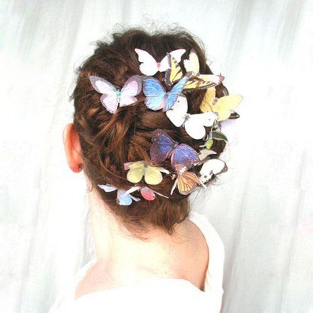 5 unids/set de horquillas para el pelo de mariposa de moda para mujeres y niñas, horquillas de boda, horquillas de novia para fiesta, accesorios de bandas para el cabello