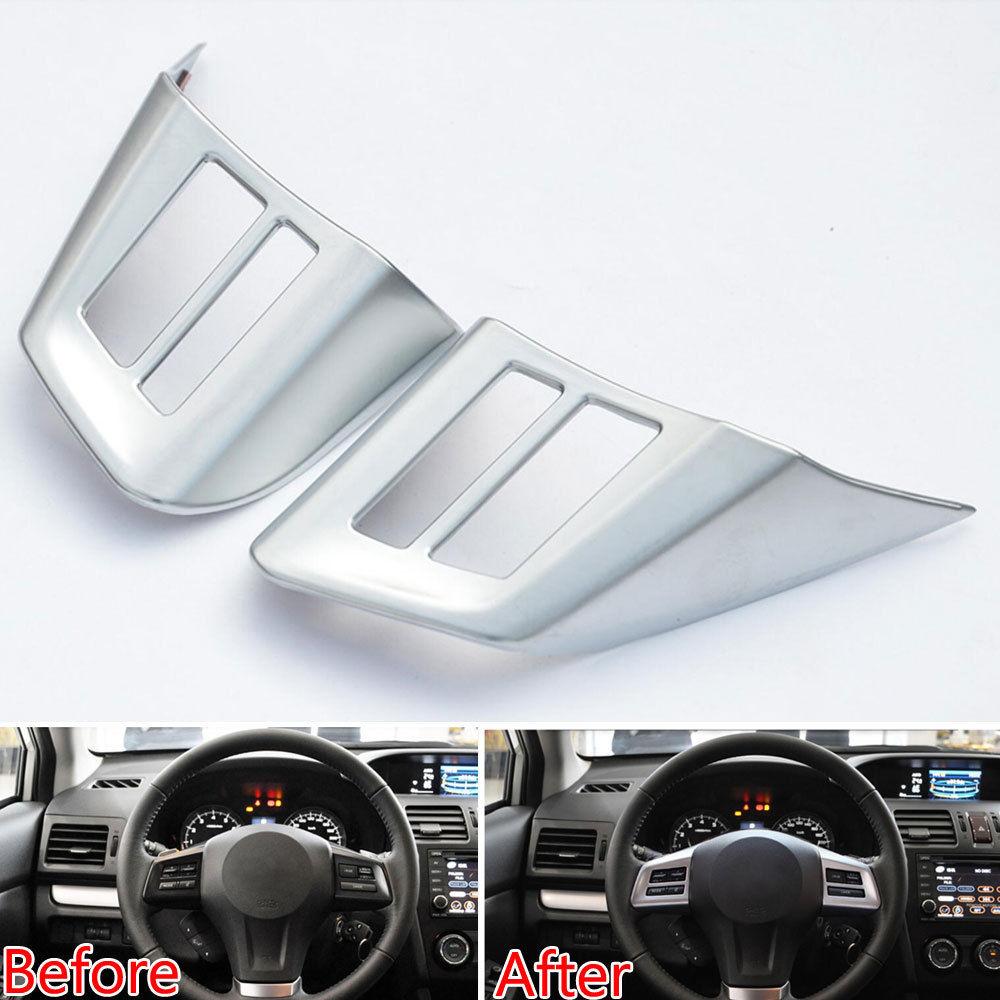 Автомобильный Стайлинг панель рулевого колеса вставка накладка значок наклейка хром ABS подходит для Subaru XV CROSSTREK 2011-2015 Аксессуары