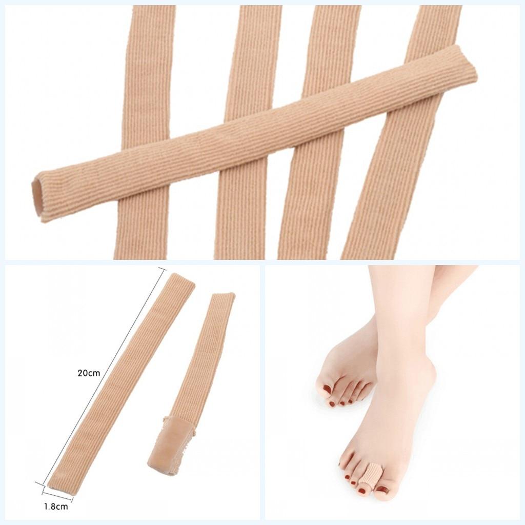 2019 nuevo Gel de tela venda tipo tubo dedos y dedos de los pies cojín callos Hallux Valgu ampollas callos almohadillas para aliviar el dolor plantillas