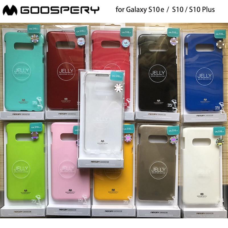 Para Samsung Galaxy S10 Lite S10 Plus S10e Original Mercury Goospery Color pera suave gelatina funda protectora delgada