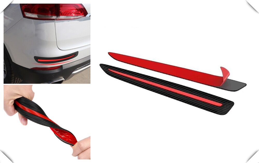 Banda anti-colisión de fibra de carbono en ángulo delantero/trasero para Hyundai CCS NEOS-3 Accent SR HND-4 azul-Will i-azul