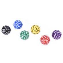 6 Kleuren 1Pcs 60 Gezicht Dobbelstenen Voor Game Polyhedral D60 Multi Zijdige Acryl Dobbelstenen Gift Voor Game Liefhebbers + doek Zak