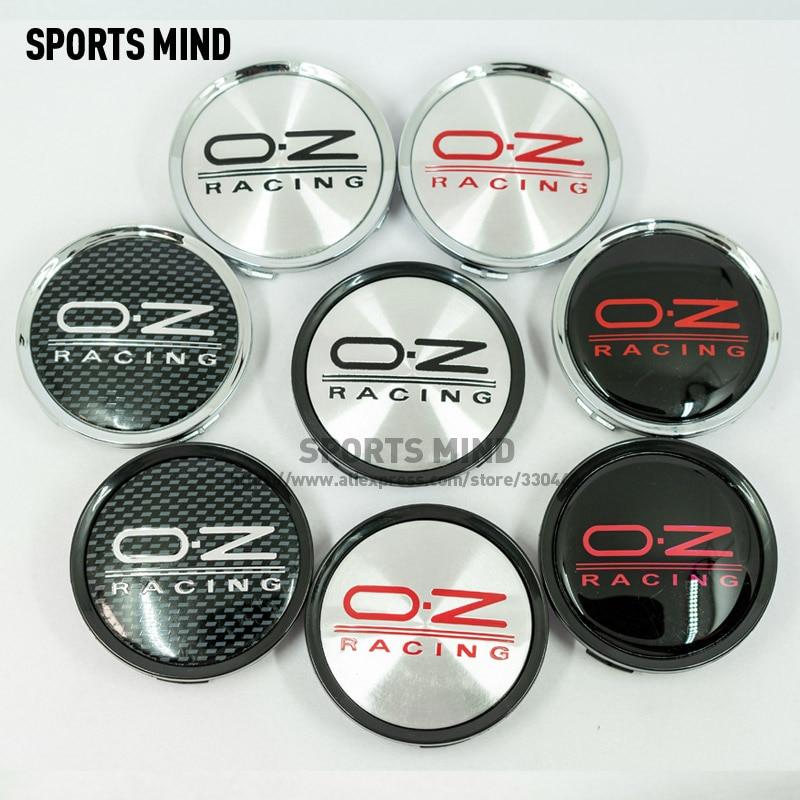 4 pçs/lote 75MM RODA de Carro Do Centro de Roda Hub Caps para OZ RACING Emblema Do Logotipo Do Carro Styling Acessórios