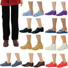 1 paire mode décontracté quotidien poupée chaussures botte pantoufle baskets copie formelle en cuir chaussures pour Barbie Ken poupée mâle accessoires