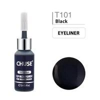chuse top black t101 permanent makeup ink eyeliner tattoo ink set eyebrow microblading pigment professional 12ml 0 4oz