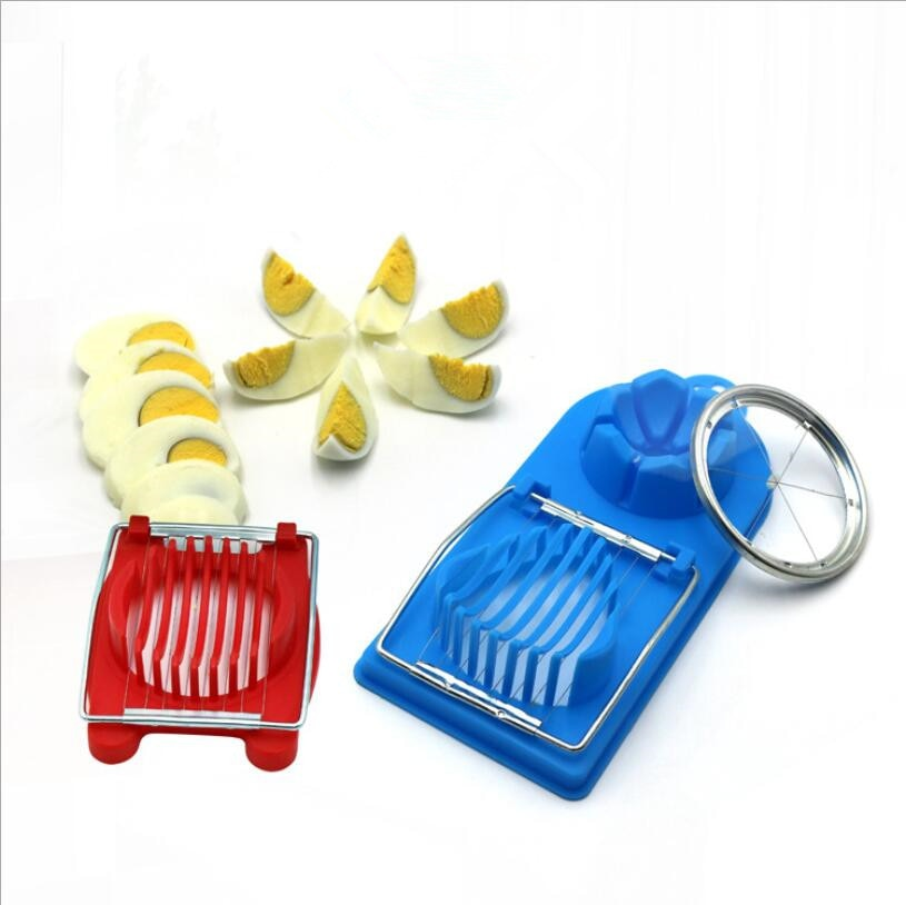 Multifunctional Egg Cutter Stainless Steel Cutting Egg Slicer Slicing Gadgets Kitchen Accessories