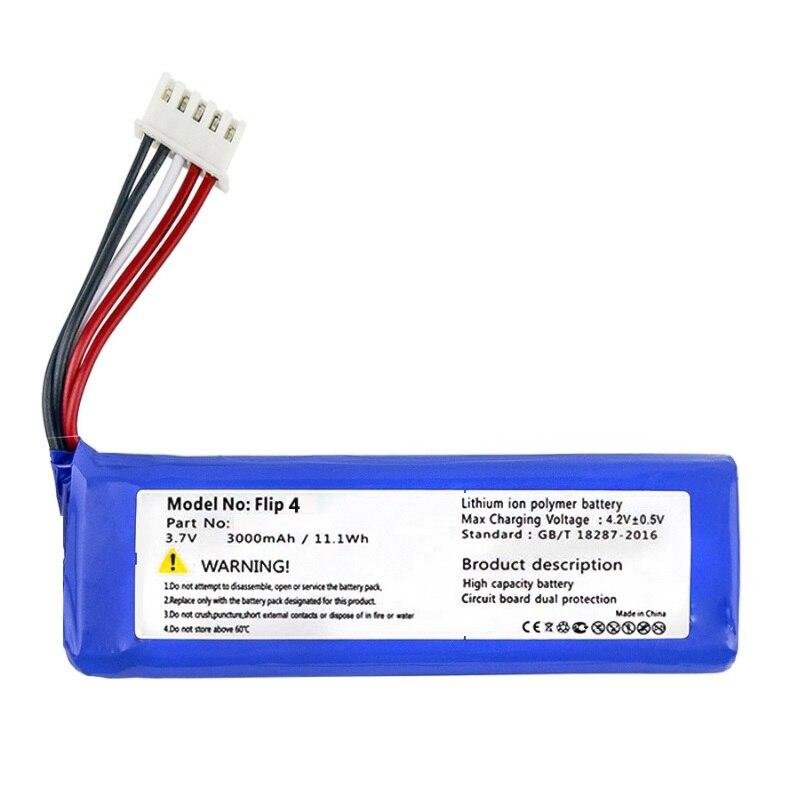 Battery for JBL Flip 3 & 4 Player Flip3 Flip4 New Li Polymer Rechargeable Accumulator Pack Replacement 3.7V 3000mAh GSP872693&01