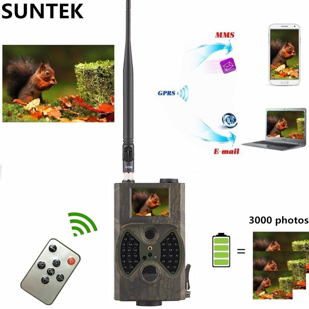 كاميرا هنتنتريل الخلوية 2G MMS SMTP مصيدة للتصوير للرؤية الليلية لاسلكية لمراقبة الحياة البرية تتبع HC300M