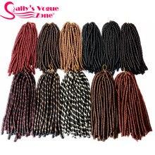 Sallyhair-tresses synthétiques au Crochet   Tresses de couleur Piano, 14 pouces, 70g/paquet, extensions capillaires Afro, Faux Locs doux et épais complets