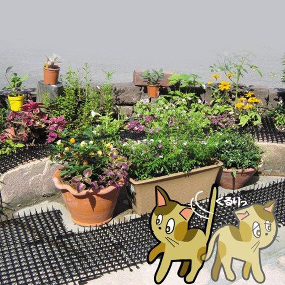 Cat Scat Repellent Mat Plastic Spike,Anti-Cats Network Digging Stopper Prickle Strip