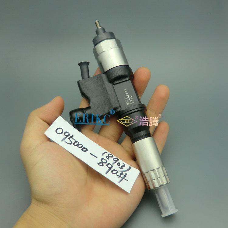 Inyector de motor diésel ERIKC 8901 095000-8901 (8-98151837-3) Y inyector de common rail original 0950008901 para Isuzu