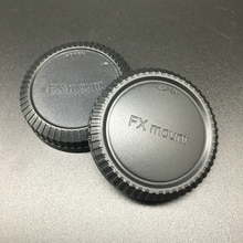 Black Camera dustproof Body cap + Rear Lens Cap FX mount for Fujifilm FX X-E1 X-PRO1 mirrorless camera