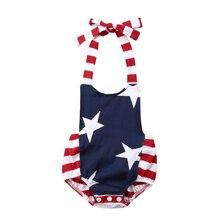 Ropa para bebés del 4 de julio, Pelele de estrella a rayas para bebé