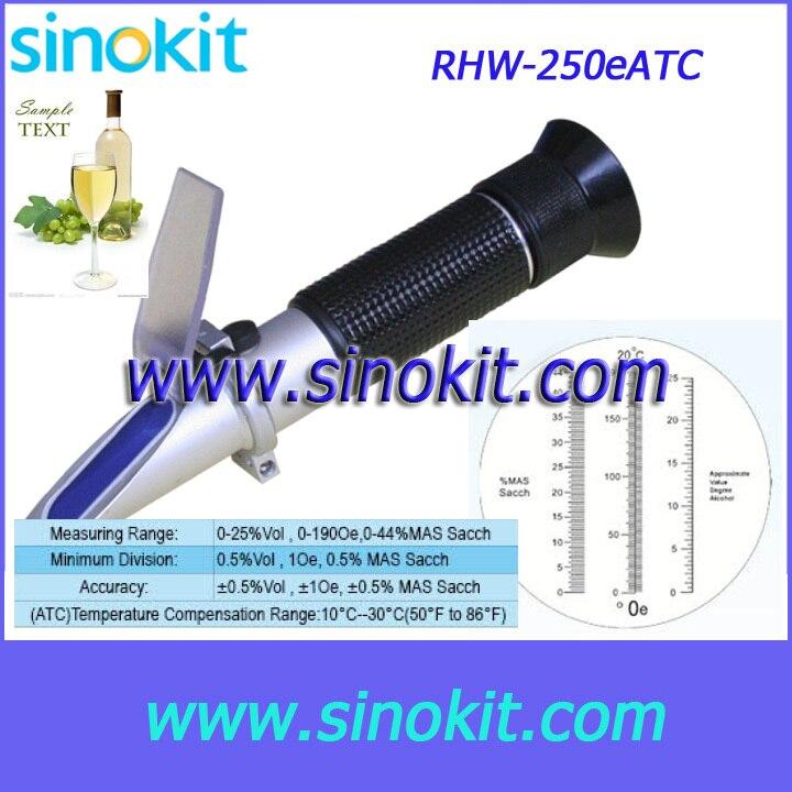 Vino/Oe mano 0-25% Vol, 0-190Oe, 0-44% MAS Sacch refractómetro-RHW-25Oe ATC