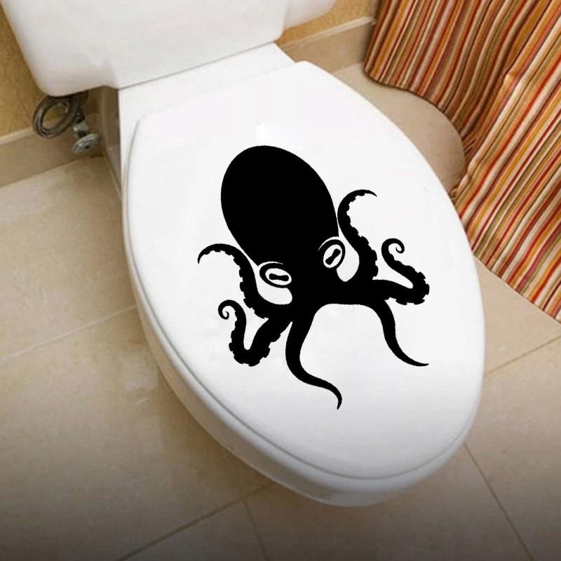 Pulpo tentáculos Animal decoración del hogar vinilo pared pegatinas de baño 6WS0100