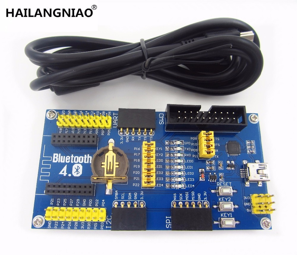 1 шт. NRF51822 плата для разработки ble4.0 модуль Bluetooth плата для разработки 2,4G комплект низкой мощности