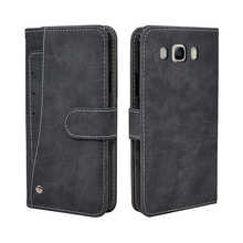 Luxury Wallet Case For Samsung Galaxy J2 J3 J5 J7 2016 Case Vintage Flip Leather TPU Silicone Cover Card Slots