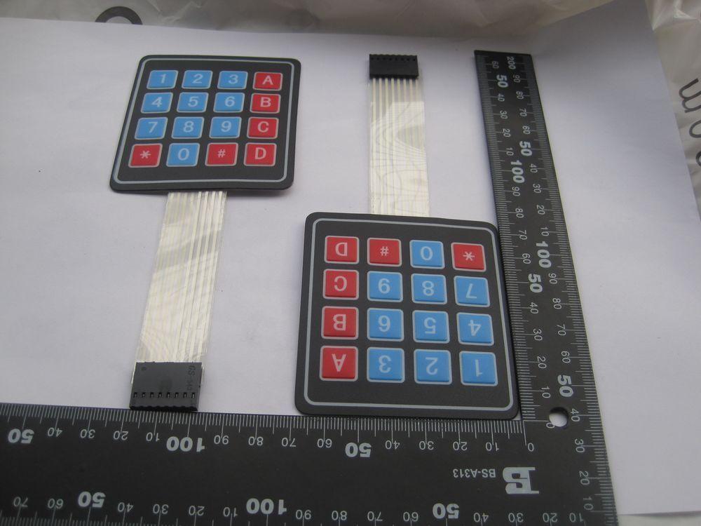 5 uds teclado de matriz súper grande 4*4 teclado de Exterior MCU...