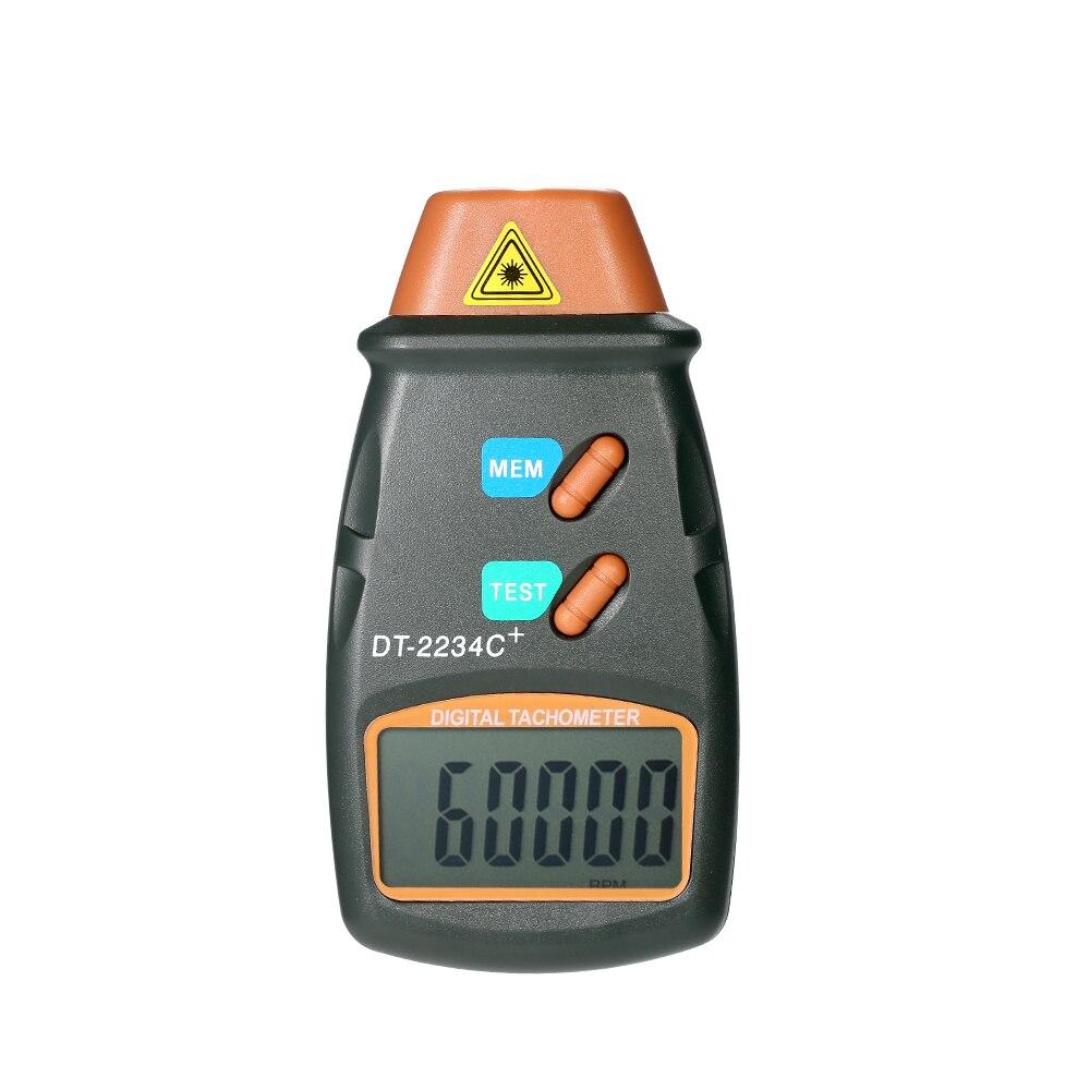 Tacómetro láser Digital de mano, medidor de RPM, medidor de velocidad de torno sin contacto, indicador de velocidad de giro DT2234C, medidor de velocidad