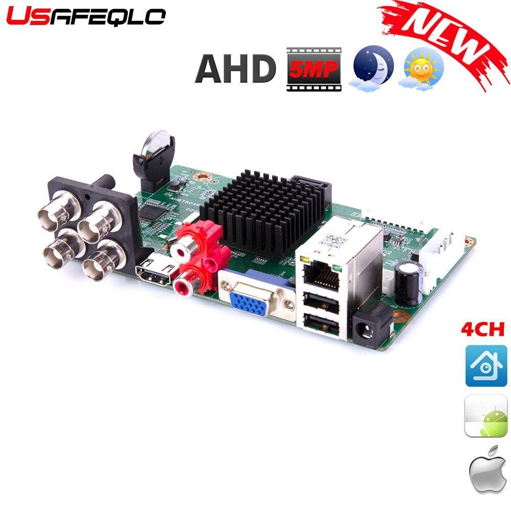 Nova chegada principal pcb ahd 5mp-n 4 canais ahd dvr gravador de vídeo 4 canais ahd dvr 1080 p ahdh para 1080 p/5mp ahd câmera
