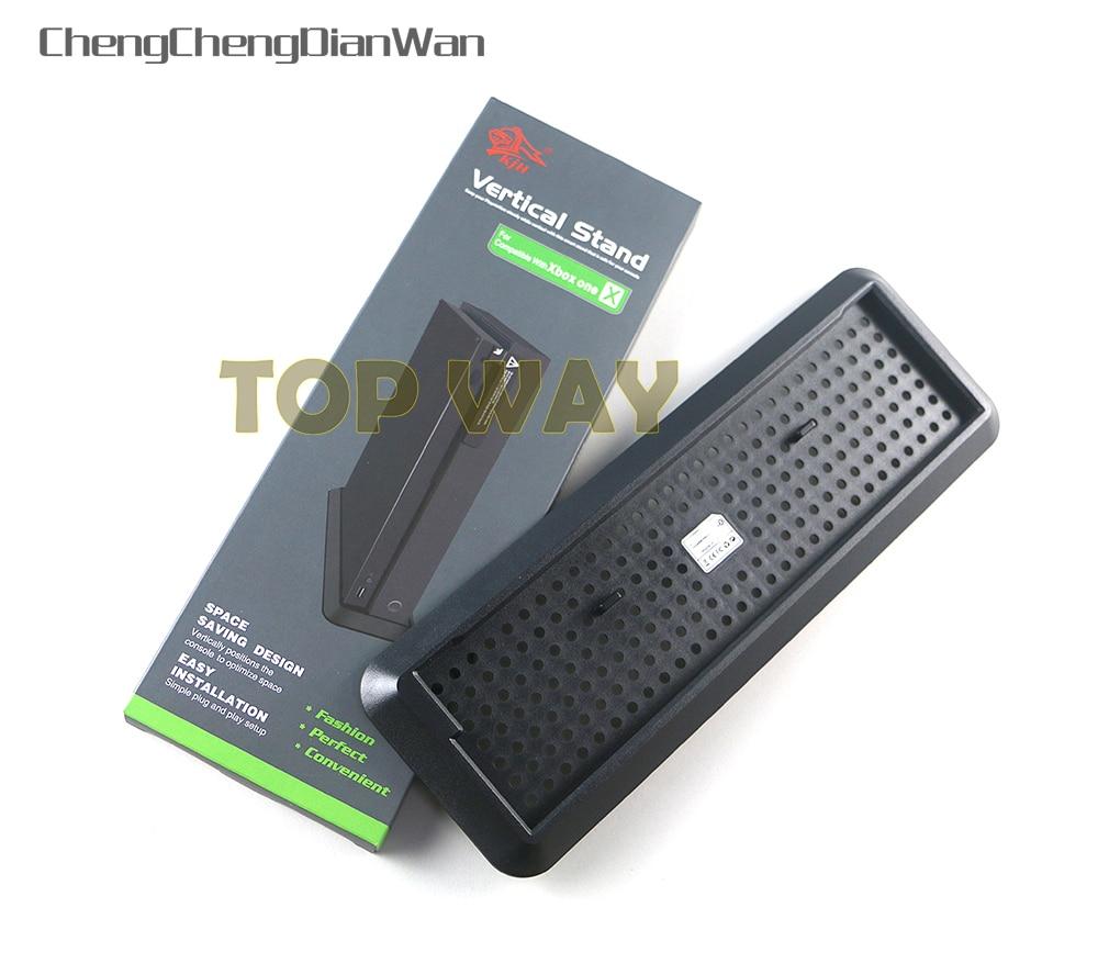 ChengChengDianWan 12 unids/lote antideslizante Vertical soporte Dock para XBOX One X soporte de consola montaje titular de la Base anfitrión