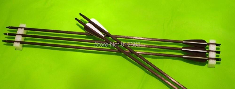 """OFERTA ESPECIAL 24 unidades PSE Tac 15 Elite ballesta Flecha de tornillo de fibra de carbono con 4 piezas 3 """"paleta Envío Expreso Gratuito"""