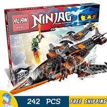 242pcs Ninja Sky Shark Drone jetpack Lloyd Flintlocke 06026 Figure Building Blocks Children Kids Toys  Compatible With LagoING