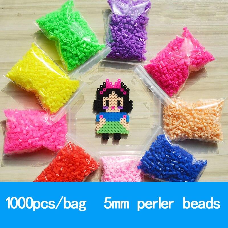 Contas 1000 pçs/saco 5mm perler pupukou hama, 36 cores crianças educação diy brinquedos 100% qualidade garantia nova diy brinquedo contas de fusível