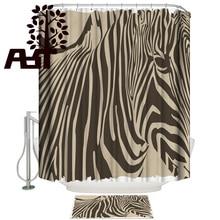 Art Store Zebra African Shower Curtain Bath Sets With Rugs Bathroom Mat With Shower Curtain Waterproof Bathroom Inside Modern