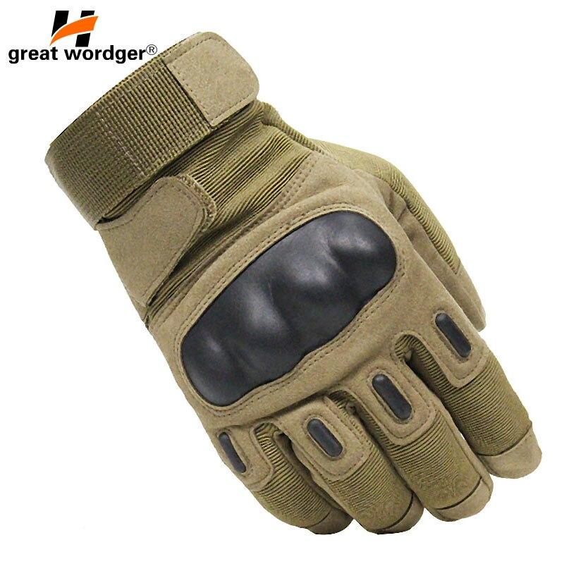 Tela de Toque militar Tactical Gloves Exército Completa Dedo Luvas de Combate CS Polícia Motocycle Slip-resistente Shell De Fibra De Carbono Luva