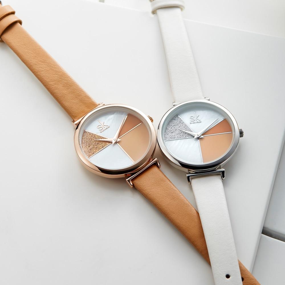 Shengke Creative Shell Fashion Women Watches Quartz ladies watch Wristwatch Leather Strap Reloj Mujer Montre Femme new 2019 enlarge