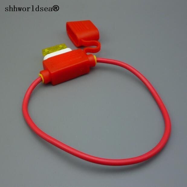 shhworldsea  rubber + ceramic 20 amp AUTO Blade In-Line ceramic Mini  Fuse Holder /car Fuse Socket Automotive fuse box (1A~40A)