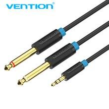 Vention 3.5mm à 6.35mm adaptateur câble Aux Double 6.35mm mâle 1/4