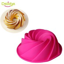 Delidge 1 Pc Grote Spiraal Siliconen Cakevorm 3D Fondant Chocolade Zeep Brood Fondant Cake Pan Mold Diy Bakken Tools