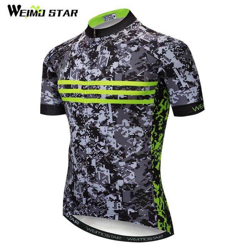 Camiseta de Ciclismo de camuflaje marca Weimostar, camiseta de ciclismo de montaña de carretera, Jersey de bicicleta de poliéster para hombre, ropa de ciclismo de descenso de verano