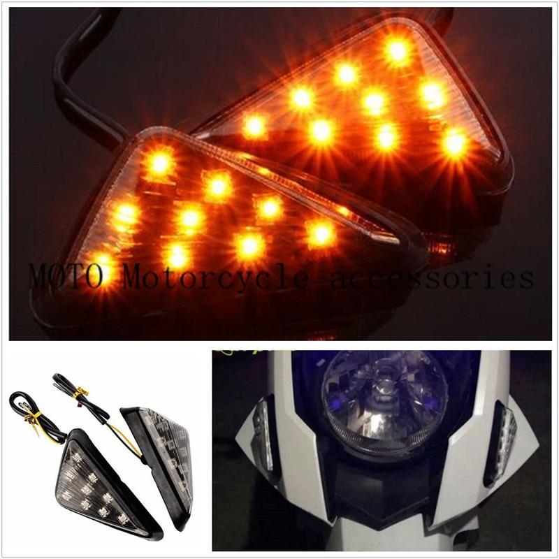 Motor soporte empotrado de LED de señal de vuelta de luz lámpara indicador para Yamaha YZF 600R R61 1998-2007 para Suzuki GSX-R 600, 750, 1000, 2001-2005