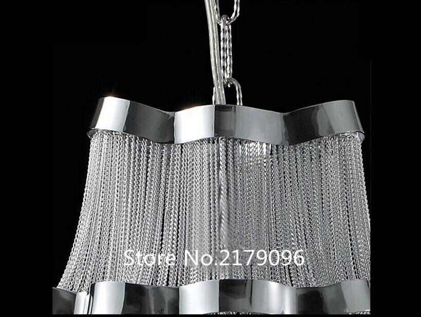 High-end European-style chandelier Bedroom lamps Italian restaurant chain aluminum chain chandelier Hotel Lighting  - buy with discount
