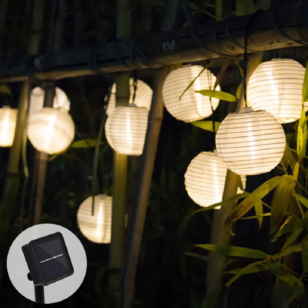 Solar Led Light Outdoor Lantern Solar String Lights Street Garland LED Solar Lamp For Wedding Lantern Garden Decoration