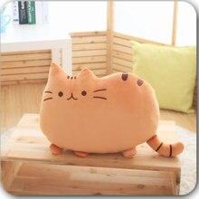 Venda quente gato de pelúcia boneca volta dos desenhos animados almofada lombar decorativo lance travesseiro smiley rosto assento almofada stuffe