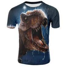 Jurassic World 2 Cool dinosaure tête 3D impression t-shirt hommes/femmes Hiphop lego jurassic park t-shirt garçon t-shirt vêtements navire