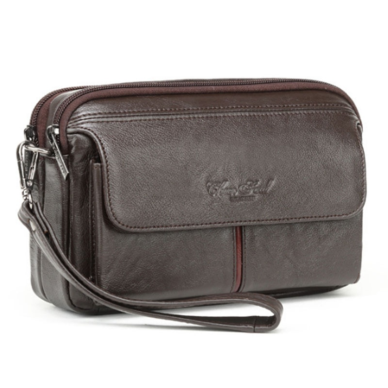 الرجال Vintage الجلود مخلب محفظة الأعمال حقائب يد حقيبة هاتف محمول السجائر محفظة الحقيبة الذكور مفيد حقيبة المحفظة