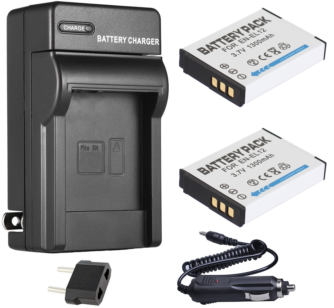 Batería (paquete de 2) + cargador para cámara Digital Nikon Coolpix B600, A900, A1000, AW100, AW110s, AW120s, AW130s