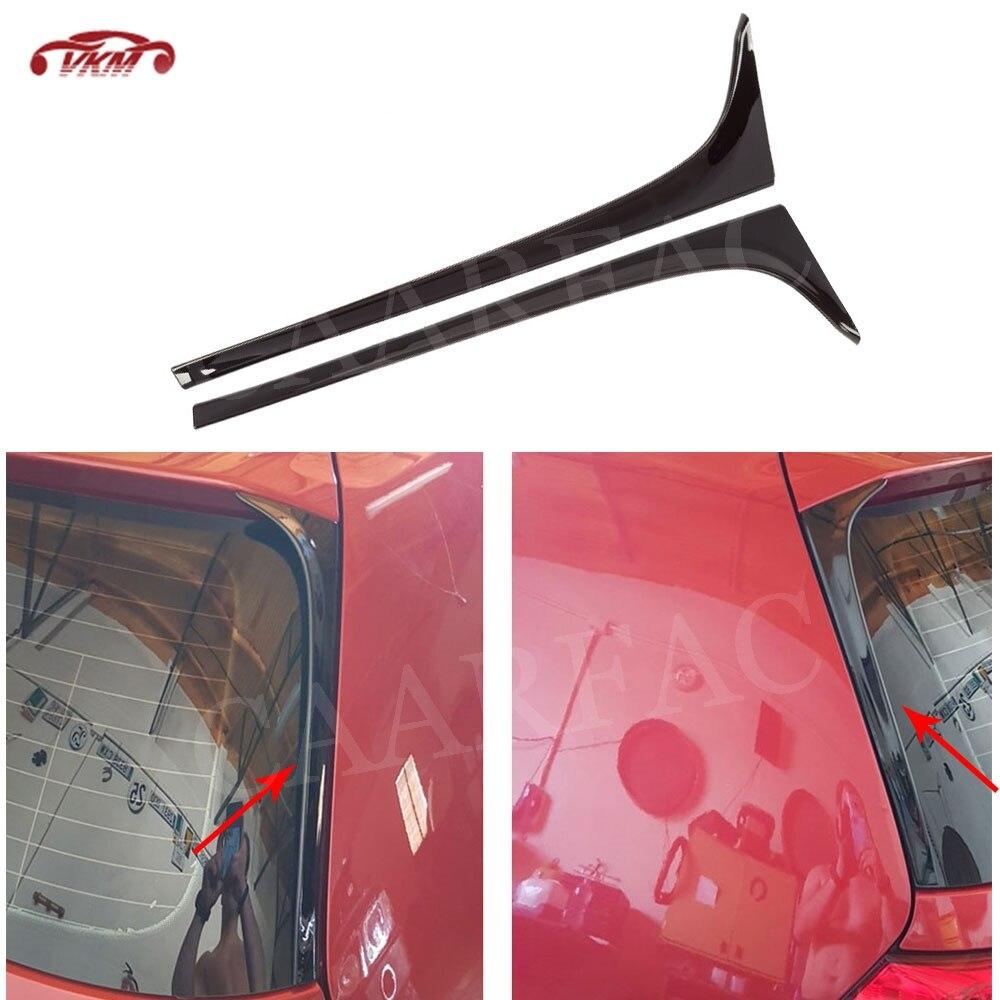 ABS задний спойлер боковые крылья для VW Golf 7 7,5 VII MK7 MK7.5 стандарт 2014 -2019 Черный лобовое стекло Winglet отделка наклейки чехлы