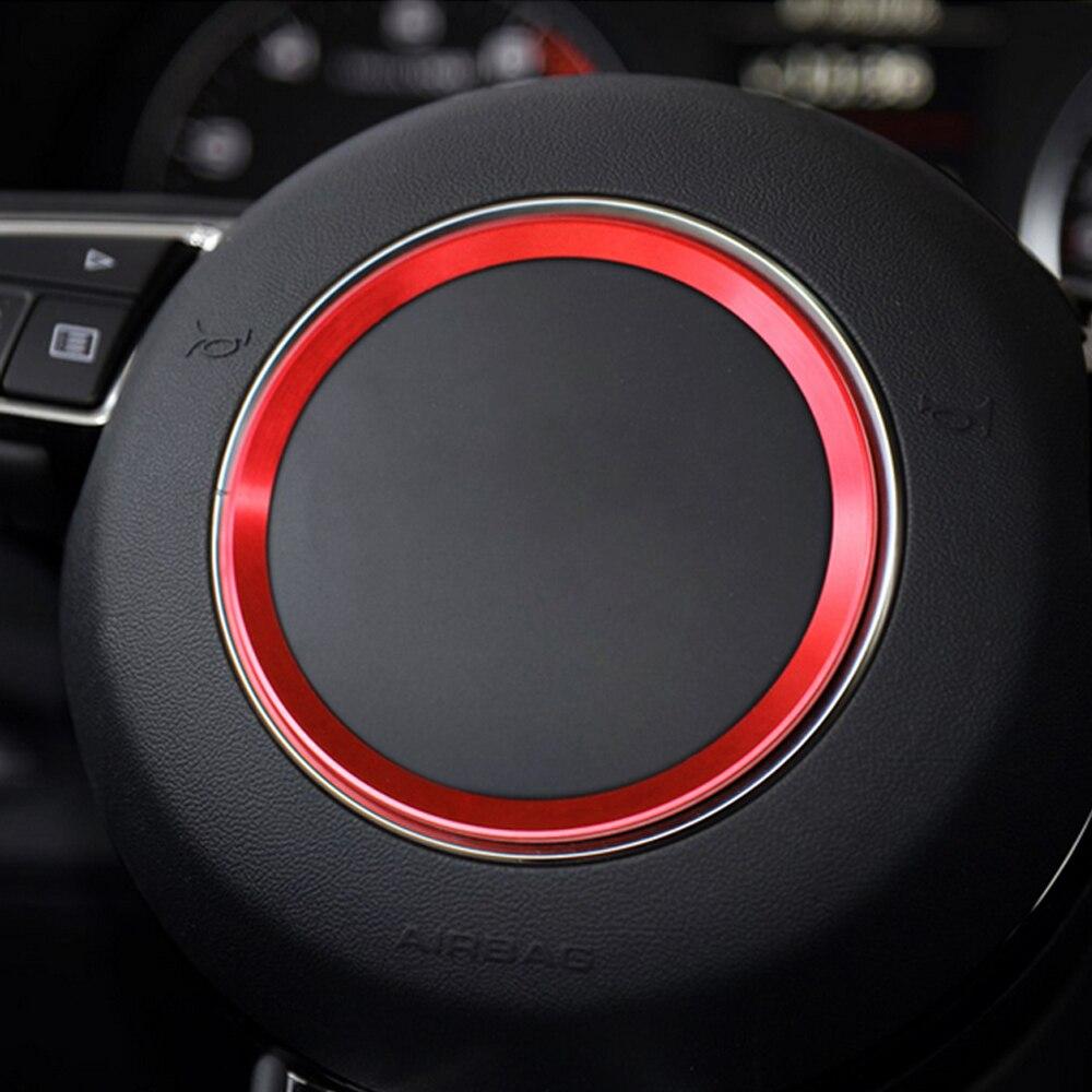 3D алюминиевая отделка чехол рулевого колеса автомобиля логотип кольцо для Audi A1 A3 A4 A5 A6 A7 Q3 Q5 S3 S5 S7 TT авто аксессуары