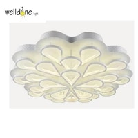 acrylic modern led ceiling lights for living study room bedroom lampe plafond avize indoor ceiling lamp lustre free shipping