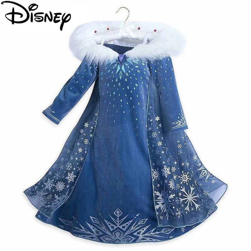 Disney Frozen dress Winter Girl Princess Anna Elsa Cute Girl Party Christmas  Halloween costumes cinderella infantils dresses